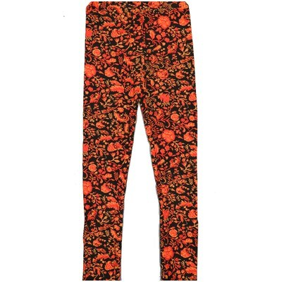 LuLaRoe Kids Large-XL Floral Black Leggings ( L/XL fits kids 8-14) LXL-2002-N