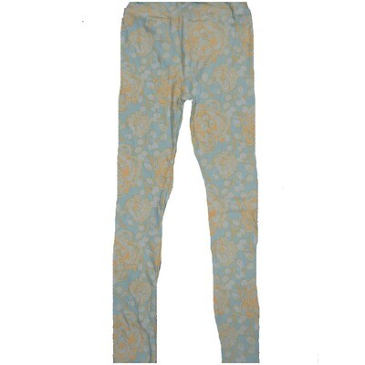 LuLaRoe Kids Large-XL Floral Light Blue Leggings ( L/XL fits kids 8-14) LXL-2002-S