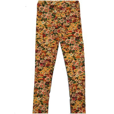 LuLaRoe Kids Large-XL Floral Garden Lillies Leggings ( L/XL fits kids 8-14) LXL-2001-F2
