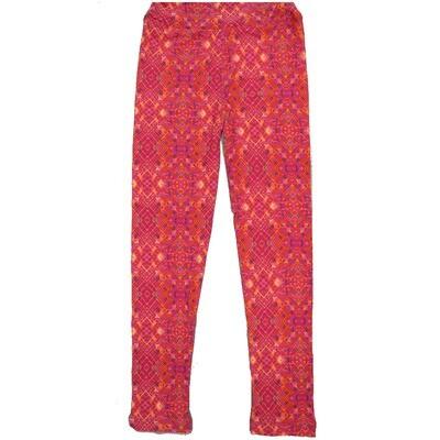 LuLaRoe Kids Large-XL Trippy Geometric Pink Fucshia Leggings ( L/XL fits kids 8-14) LXL-2005-J