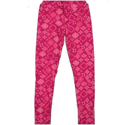 LuLaRoe Kids Large-XL Mandala Pink Diamond Geometric Leggings ( L/XL fits kids 8-14) LXL-2005-K
