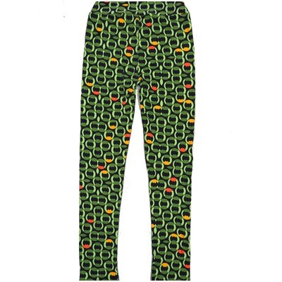 LuLaRoe Kids Large-XL Geometric Black Green Yellow Leggings ( L/XL fits kids 8-14) LXL-2004-V
