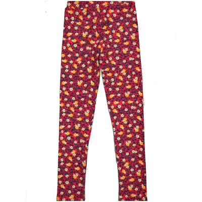 LuLaRoe Kids Large-XL Floral Green White Yellow Leggings ( L/XL fits kids 8-14) LXL-2003-F
