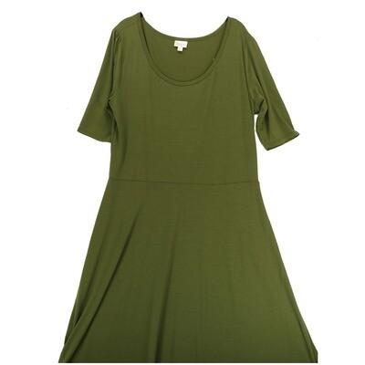 LuLaRoe Ana XXX-Large 3XL Solid Olive/Army Green Floor Length Maxi Dress fits sizes 22-24