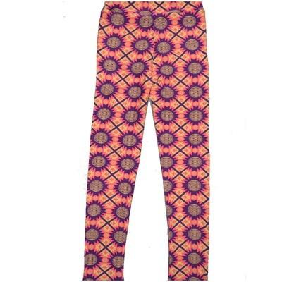 LuLaRoe Kids Large-XL Southwestern Geometric Polka Dot Stripe Blue Yellow Leggings ( L/XL fits kids 8-14) LXL-2005-V