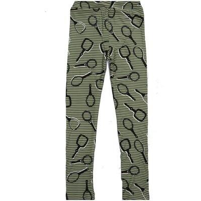 LuLaRoe Kids Large-XL Hand Mirrors Stripes Black White Leggings ( L/XL fits kids 8-14) LXL-2000-H
