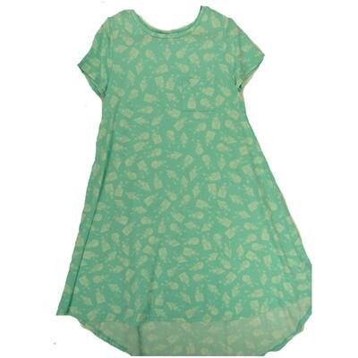 LuLaRoe CARLY Small S Disney Light Teal Kermit the Frog Swing Dress fits Women 6-8