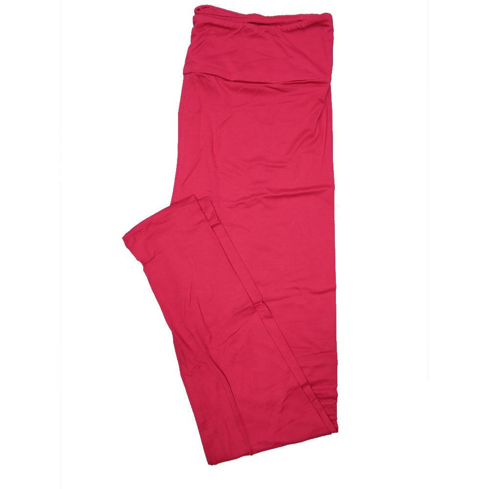LuLaRoe One Size OS Solid Fucshia Womens Leggings fits Adult sizes 2-10