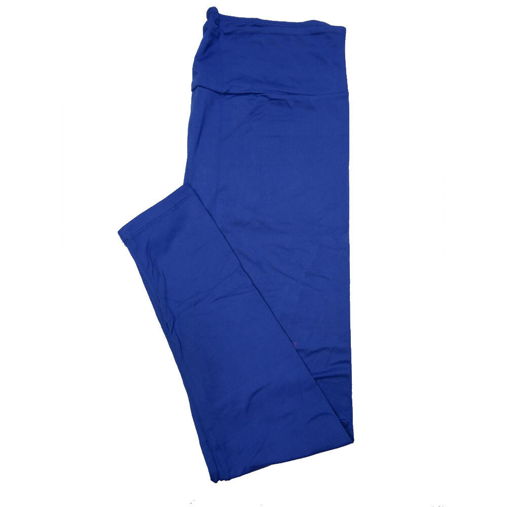 LuLaRoe One Size OS Solid Limoges Blue (194044) Womens Leggings fits Adult sizes 2-10