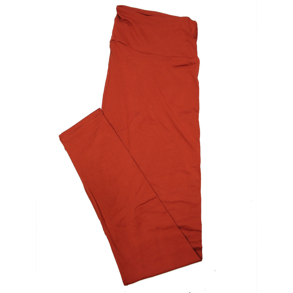 LuLaRoe One Size OS Solid Picante Red (191250) Womens Leggings fits Adult sizes 2-10