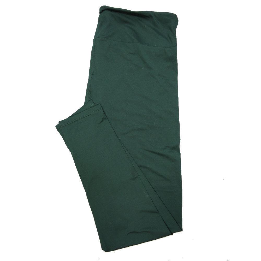 LuLaRoe One Size OS Solid Ponderosa Pine Green (195320) Womens Leggings fits Adult sizes 2-10