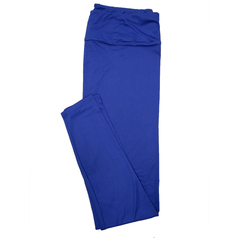 LuLaRoe Tall Curvy TC Solid Blue Womens Leggings fits Adult sizes 12-18