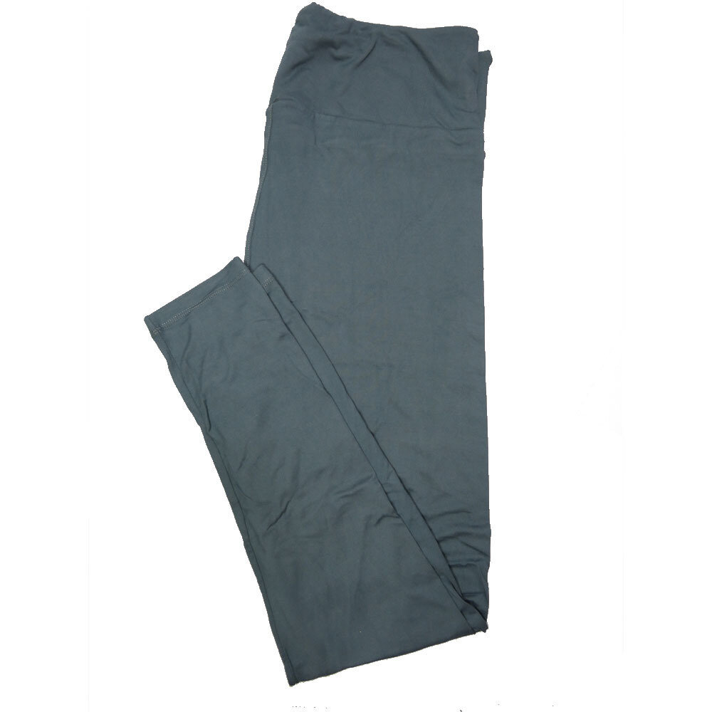 LuLaRoe Tall Curvy TC Solid Dark Gray Blue (257487) Womens Leggings fits Adult sizes 12-18