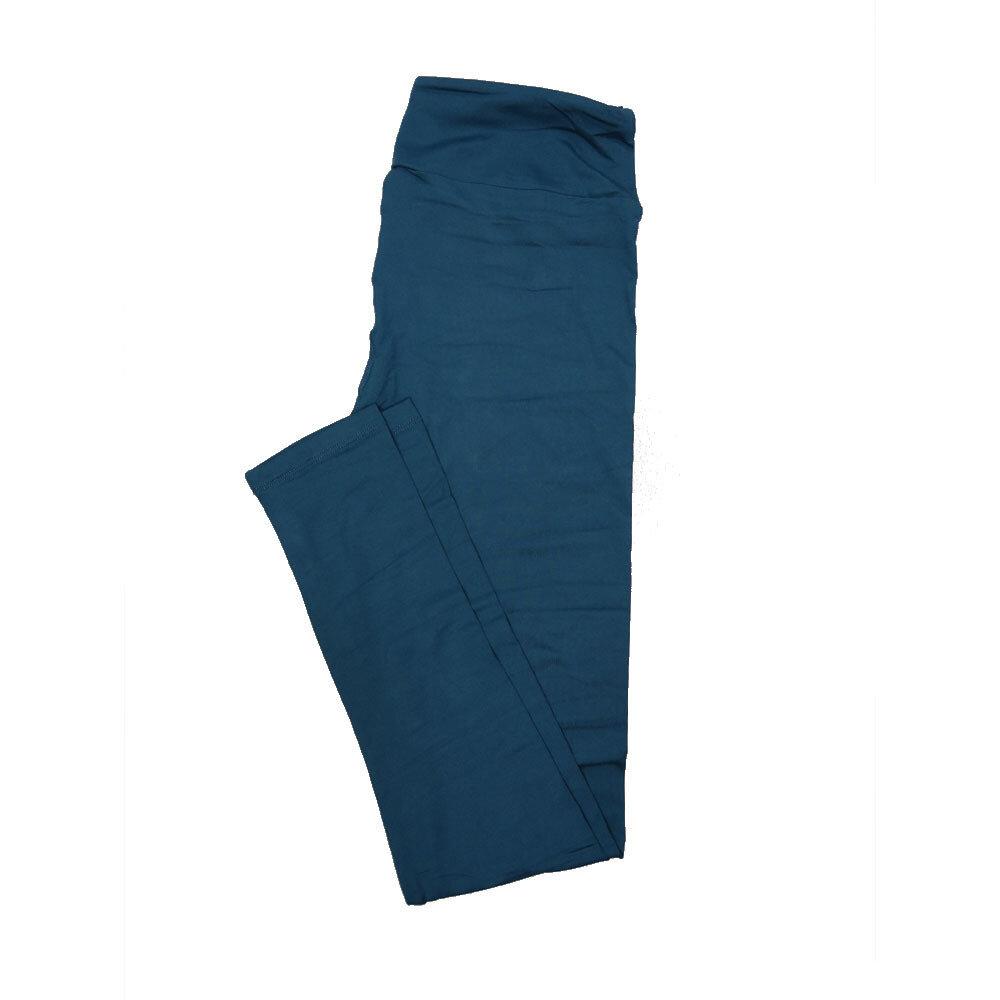 LuLaRoe Tall Curvy TC Solid Dark Teal (194324) Womens Leggings fits Adult sizes 12-18