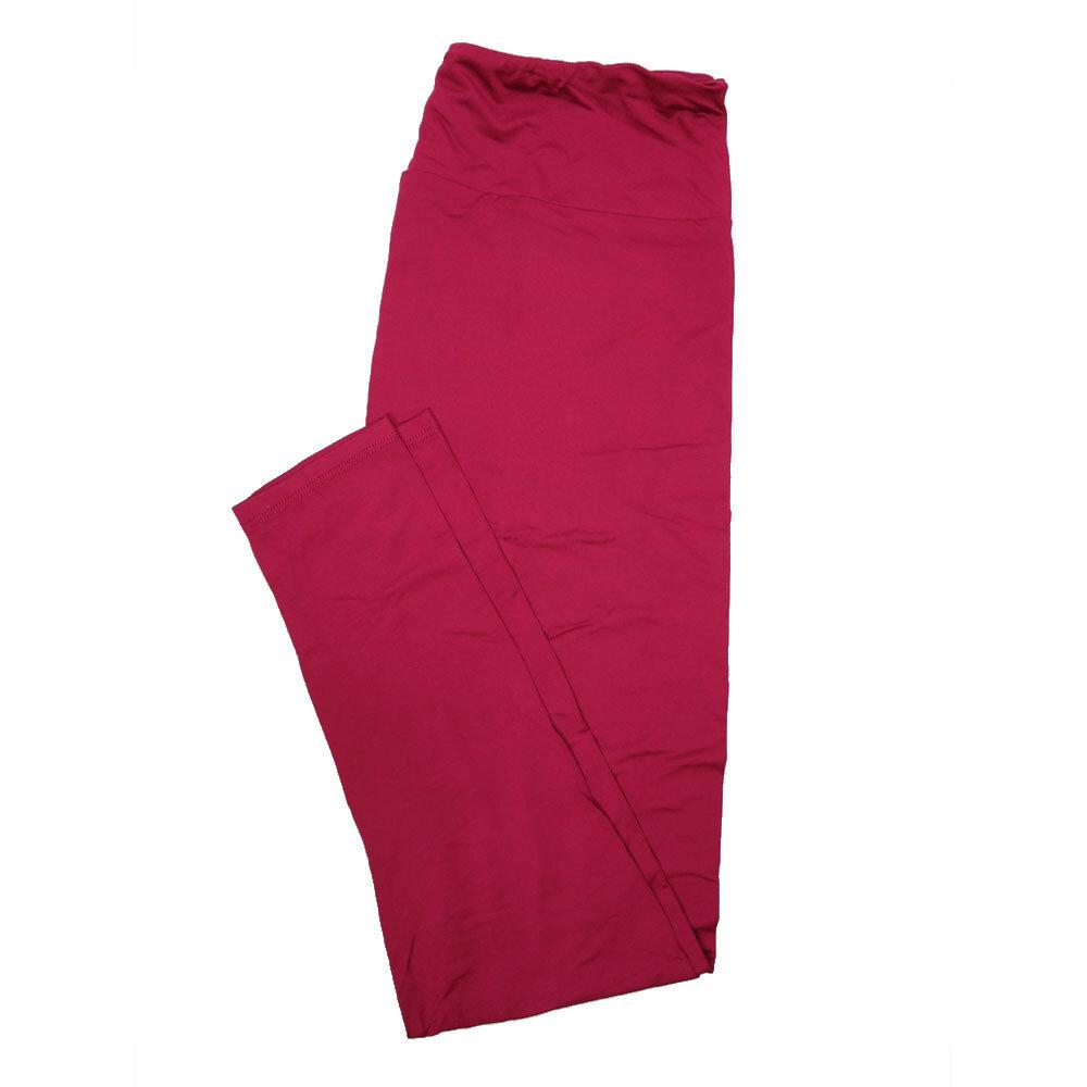 LuLaRoe Tall Curvy TC Solid Red Plum (192025) Womens Leggings fits Adult sizes 12-18