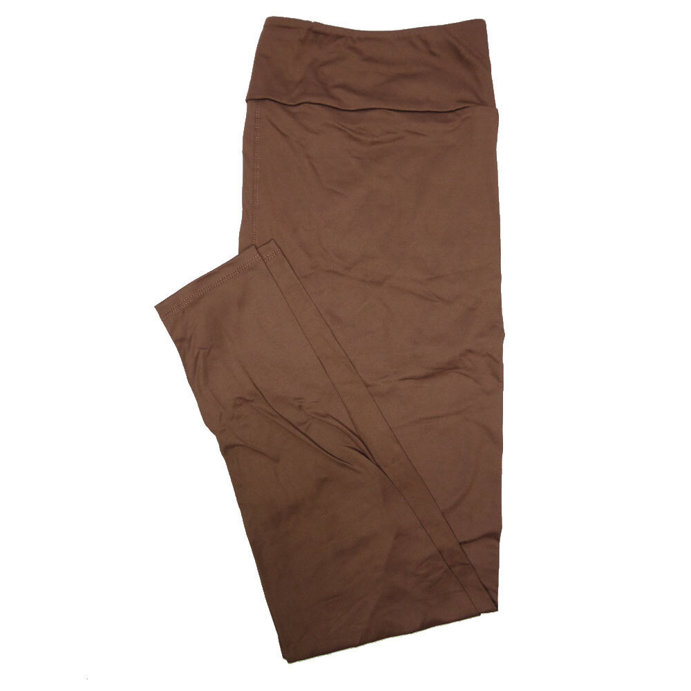 LuLaRoe TC2 Solids Chocolate Brown (595747) Leggings (Tall Curvy 2 fits Sizes 18+)