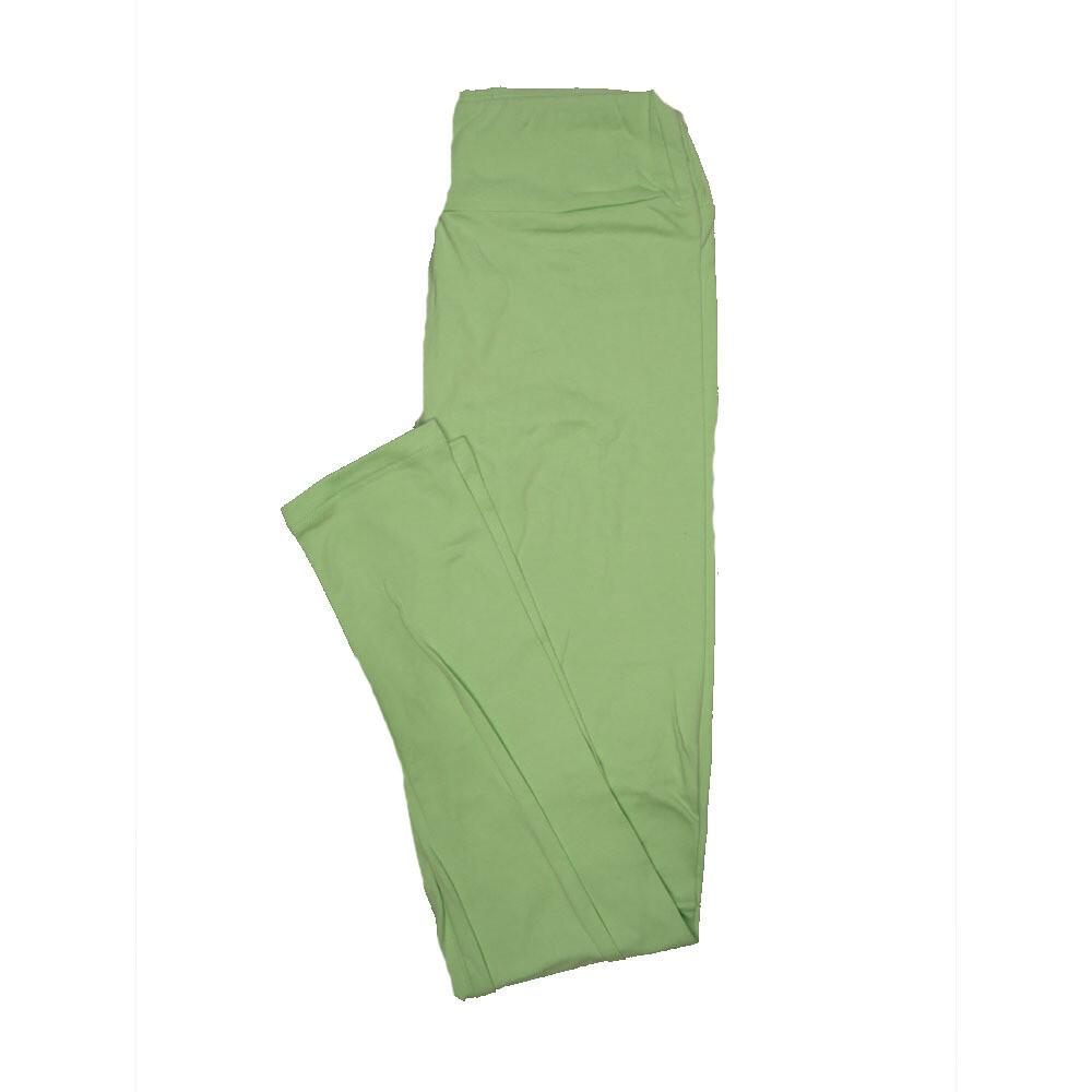 LuLaRoe One Size OS Solid Light Heathered Green (90B) Womens Leggings fits Adult sizes 2-10