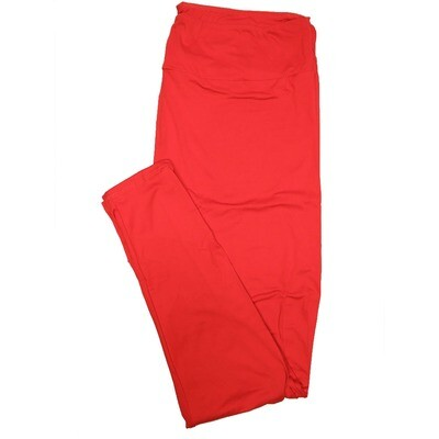 LuLaRoe TC2 Solids Indian Red (416459) Leggings (Tall Curvy 2 fits Sizes 18+)