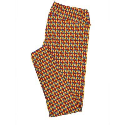 LuLaRoe Tall Curvy TC Leggings Psychedelic 70s Trippy (TC fits 12-18) TC-7008-C