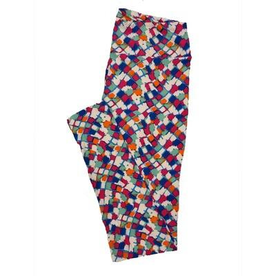LuLaRoe Tall Curvy TC Leggings Geometric (TC fits 12-18) TC-7012-W