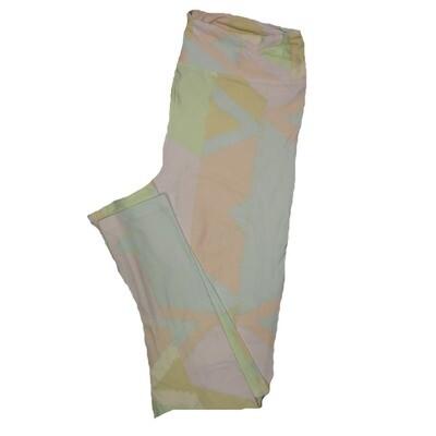 LuLaRoe Tall Curvy TC Leggings Stripe Zig Zag Chevron (TC fits 12-18) TC-7004-B