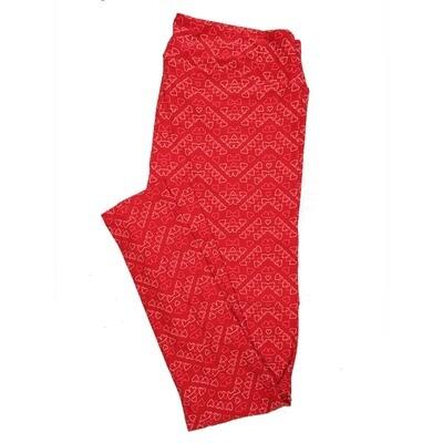 LuLaRoe Tall Curvy TC Leggings Love Hearts (TC fits 12-18) TC-7029-U