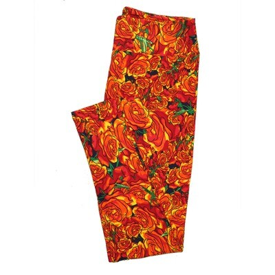 LuLaRoe Tall Curvy TC Leggings Roses (TC fits 12-18) TC-7024-T2