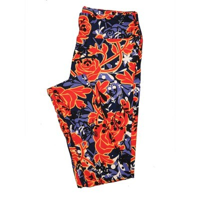 LuLaRoe Tall Curvy TC Leggings Roses (TC fits 12-18) TC-7024-O5