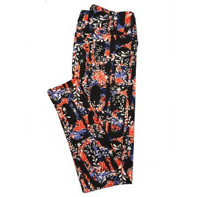 LuLaRoe Tall Curvy TC Leggings Roses (TC fits 12-18) TC-7024-R3