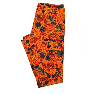 LuLaRoe Tall Curvy TC Leggings Roses (TC fits 12-18) TC-7025-G
