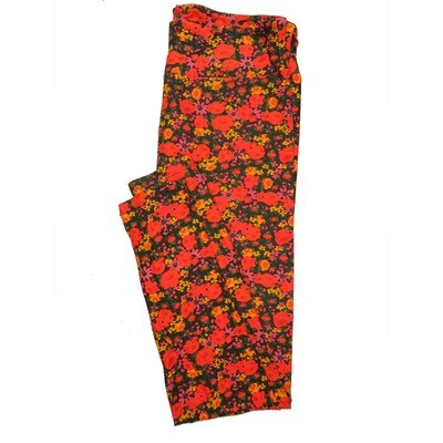 LuLaRoe Tall Curvy TC Leggings Roses (TC fits 12-18) TC-7025-H