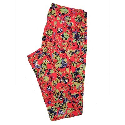 LuLaRoe Tall Curvy TC Leggings Roses (TC fits 12-18) TC-7025-I