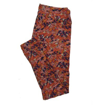 LuLaRoe Tall Curvy TC Leggings Floral Leaves (TC fits 12-18) TC-7017-F