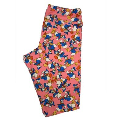 LuLaRoe Tall Curvy TC Leggings Disney Donald Duck (TC fits 12-18) TC-7046-W