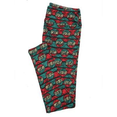 LuLaRoe Tall Curvy TC Leggings USA Polka Dots (TC fits 12-18) TC-7028-R2