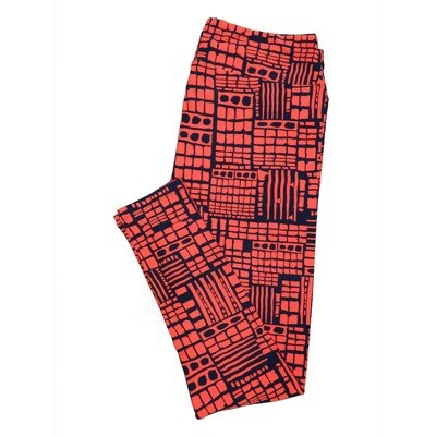 LuLaRoe Tall Curvy TC Leggings Stripe Zig Zag Chevron (TC fits 12-18) TC-7005-G