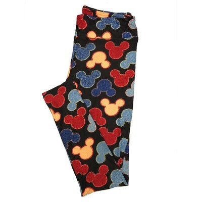 LuLaRoe Tall Curvy TC Leggings Disney Mickey Mouse (TC fits 12-18) TC-7044-I