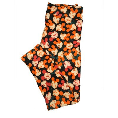 LuLaRoe Tall Curvy TC Leggings Disney Mickey Mouse (TC fits 12-18) TC-7044-O2