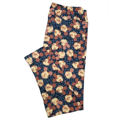 LuLaRoe Tall Curvy TC Leggings Disney Mickey Mouse (TC fits 12-18) TC-7044-G
