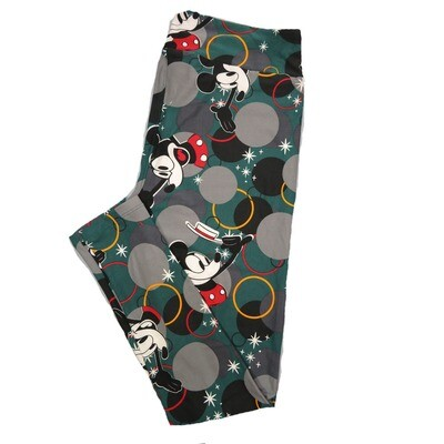 LuLaRoe Tall Curvy TC Leggings Disney Mickey Mouse (TC fits 12-18) TC-7044-R2