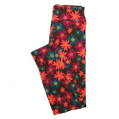 LuLaRoe One Size OS Floral Leggings (OS fits Adults 2-10) OS-4066-I