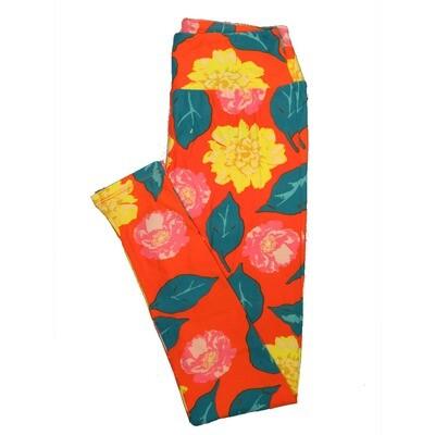 LuLaRoe One Size OS Floral Leggings (OS fits Adults 2-10) OS-4067-F3
