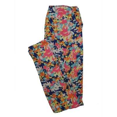 LuLaRoe One Size OS Floral Leggings (OS fits Adults 2-10) OS-4068-A