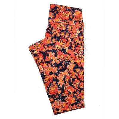 LuLaRoe One Size OS Floral Leggings (OS fits Adults 2-10) OS-4068-I
