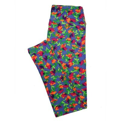 LuLaRoe One Size OS Floral Leggings (OS fits Adults 2-10) OS-4068-L