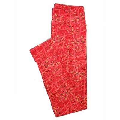 LuLaRoe One Size OS Floral Leggings (OS fits Adults 2-10) OS-4069-H