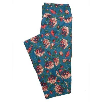 LuLaRoe One Size OS Floral Leggings (OS fits Adults 2-10) OS-4069-I