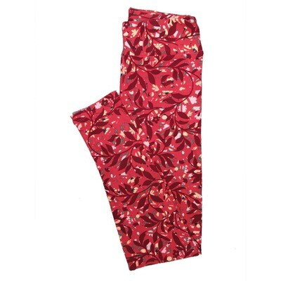 LuLaRoe One Size OS Floral Leggings (OS fits Adults 2-10) OS-4069-L