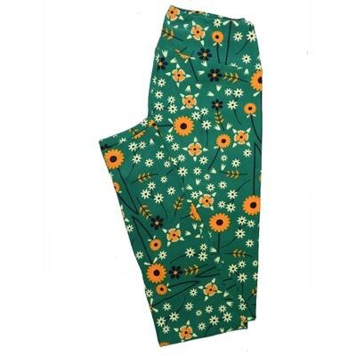 LuLaRoe One Size OS Floral Leggings (OS fits Adults 2-10) OS-4070-C