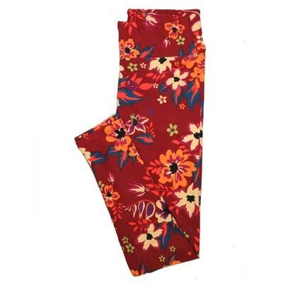 LuLaRoe One Size OS Floral Leggings (OS fits Adults 2-10) OS-4070-F